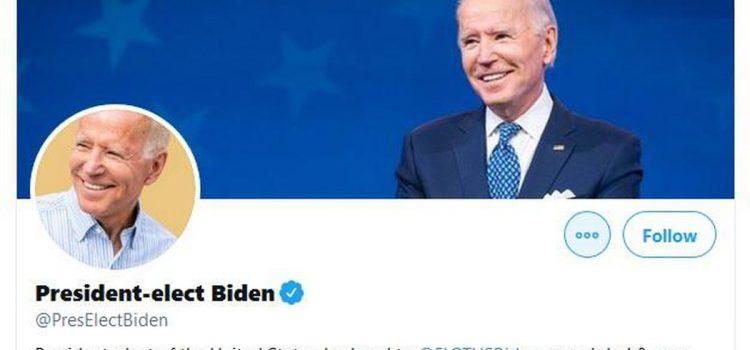 Joe Biden launches new Twitter account — meet @PresElectBiden
