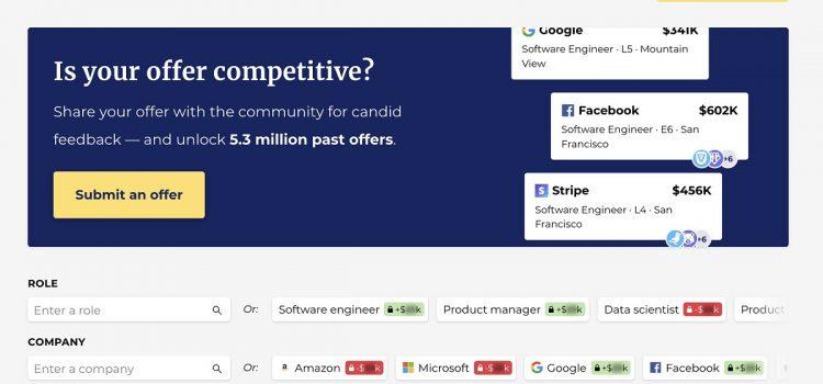 Candor crowdsources a database of tech job salaries