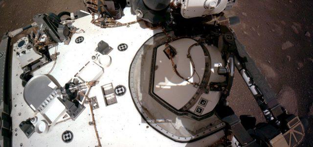 Listen to NASA's Perseverance rover drive over the rocky terrain of Mars