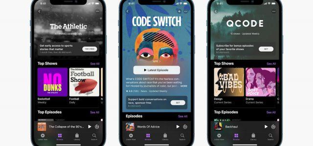Apple podcast subscription service details explained